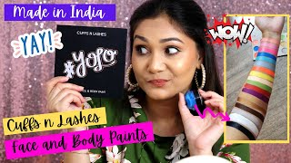 CUFFS n LASHES Face & Body Paints are HERE!! Made in India Face & Body Paints / Nidhi Katiyar
