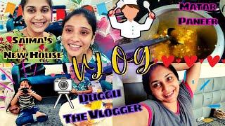Saima's New house - first visit Vlog / Duggu ban gaya Vlogger / Nidhi Katiyar
