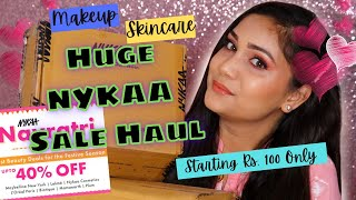 Huge NYKAA Sale Haul Starting Rs. 100 / Huge Makeup & Skincare Haul 2020 / Nidhi Katiyar