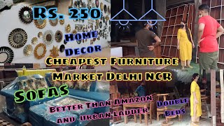 Vlog : Visit to the cheapest Furniture Market Delhi NCR / Buying New Furniture & Home Decor