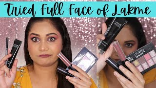 Lakme One Brand/ I tried Lakme Products for a full Face/ Nidhi Katiyar