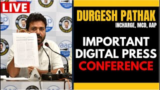LIVE | Senior AAP Leader Durgesh Pathak addressing an Important Press Conference