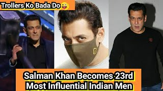 Yahoo Ranks Salman Khan And Named Him 23rd Most Influential Indian People Of 2020,Trollers So Jao