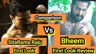 Junior NTR Bheem First Look Review From RRR Movie,Ram Charan First Look Vs JuniorNTR Look comparison