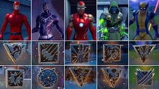 I got All 9 Mythic Weapons in One Game! Boss Doctor Doom, Wolverine,Iron Man, Black Panther Fortnite