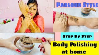Step by Step Body Polishing at home #homespachallenge | Coffee Skin care | JSuper Kaur
