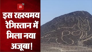 Peru के Nazca रेगिस्तान में मिला हजारों साल पुराना विशाल Cat Geoglyph, जानिए क्यों है खास