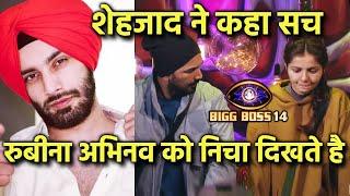 Bigg Boss 14: Rubina Abhinav Ko Nicha Dikhate Hai Sab, Shehzad Deol Ne Kiya Shocking Khulasa
