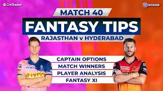 Rajasthan vs Hyderabad Team Prediction, 11Wickets Fantasy Cricket Tips, Indian T20 League
