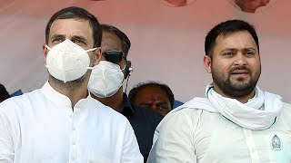 Tejashwi promises 10 lakh jobs, Rahul says PM 'insulted' Army at a joint rally in Bihar