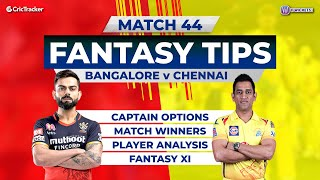 Bangalore vs Chennai Team Prediction, 11Wickets Fantasy Cricket Tips, Indian T20 League