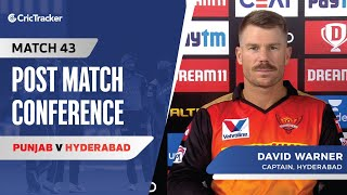 David Warner speaks about his team's loss; The behaviour of the pitch