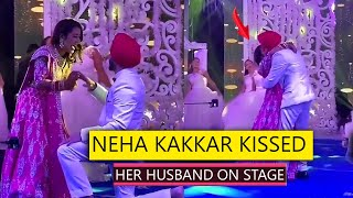 Neha Kakkar Kissed Her Husband Rohanpreet Singh In Engagement Ceremony Very Cute Video