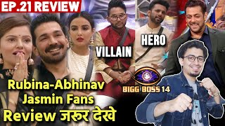 Bigg Boss 14 Review EP 21 | Rahul Vaidya HERO, Jaan VILLAIN, Rubina Abhinav Jasmin Fans Special