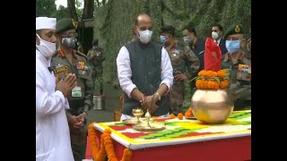 Watch: Defence Minister Rajnath Singh performs 'shastra pooja' with troops in Sikkim