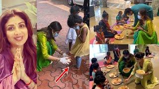 Shilpa Shetty Performs Ashtami Pooja By Completing Navratri Fast By Washing Girls' Feet