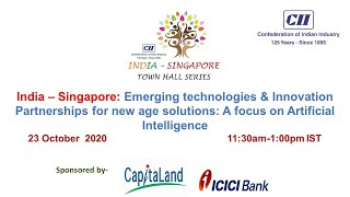 India Singapore: Emerging technologies & Innovation partnership for new age solutions