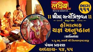 શ્રીમદ્દ સત્સંગિજીવન હોમાત્મક યજ્ઞ અનુષ્ઠાન||Swami Nityaswarupdasji || Tirthdham Sardhar || Part-111