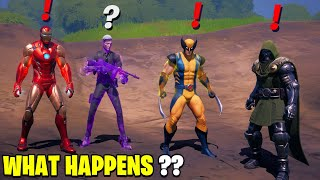 What Happens if ALL 4 Bosses Meet in Fortnite! | Boss Midas Meets Doctor Doom, Wolverine & Iron Man!