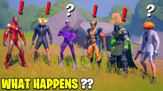 What Happens if ALL 6 Bosses Meet in Fortnite! Boss Midas Meets Wolverine, Henchmen, Doom, Iron Man