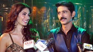 Hiten Tejwani And Bruna Abdullah At Shoot Of Film Shatranj