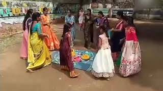 Bathukamma grand celebration in Novice play way school Nagar Karnool.....