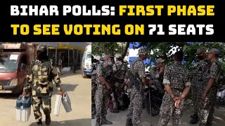 Bihar Polls: First Phase To See Voting on 71 Seats, Officials Leave For Polling Stations
