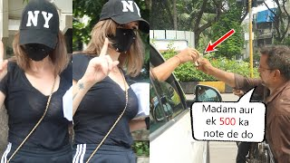 Hrithik Roshan Ex-Wife Sussanne Khan Helped Handicapped People At Juhu