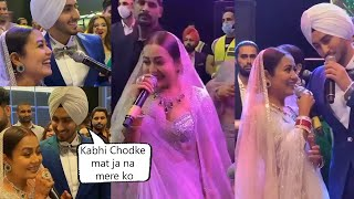 Neha Kakkar Antakshari With Husband Rohan Preet Singh At Reception Very Cute Video