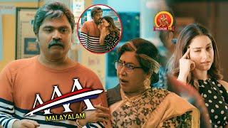 Kovai Sarala Comedy With Simbu | AAA Malayalam Movie Scenes | Tamannaah