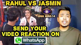 Bigg Boss 14: Jasmin Vs Rahul Vaidya Fight | Send Your Reaction On Whatsapp | Details Inside