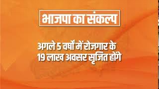 भाजपा का संकल्प अगले 5 वर्षों में रोजगार के 19 लाख अवसर सृजित होंगे #BiharWithNDA