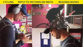 Wow Sushant Singh Doing 3 Things At Same Time Cycling, Chat With Fans On INSTA & Reading Book