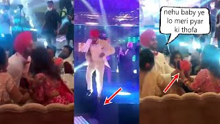 Neha Kakkar Husband Rohan Preet Jumps From Stage To Give Special Gift To Neha Kakkar