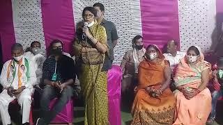 कोरबा सांसद श्रीमती ज्योत्सना महंत मरवाही उपचुनाव में वोट अपील करते हुए