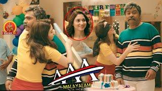 Tamannaah Hugs Simbu | AAA Malayalam Movie Scenes | Shriya Saran