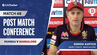 Simon Katich speaks about Bangalore's loss; Siraj not bowling with the new ball