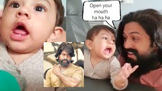 KGF Star Yash Very Cute Video Of Playing With His Son Yatharva Yash | Rocking Star Yash Son Video