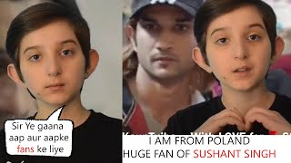 Sushant Singh Fan From POLAND Beautifully Singing  KAUN TUJHE  Song For SSR Will Make You Cry