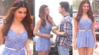 Urvashi Rautela New Movie Kiss Scene Sequence Shooting At Bandra Bandstand