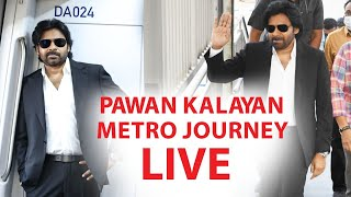 Pawan Kalayan Metro Journey LIVE | Pawan Kalayan Travels On Hyderabad Metro Rail | Vakeel Saab