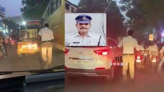 ஆம்புலன்ஸ்'க்கு வழிவிட 2 கி.மீ ஓடிய டிராபிக் போலீஸ் | Traffic Police runs 2 km to clear traffic jam