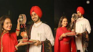 Neha Kakkar's First Karva Chauth with Hubby Rohanpreet Singh