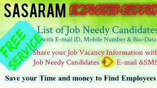 SASARAM      EMPLOYEE SUPPLY   ! Post your Job Vacancy ! Recruitment Advertisement ! Job Information