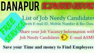 DANAPUR      EMPLOYEE SUPPLY   ! Post your Job Vacancy ! Recruitment Advertisement ! Job Information