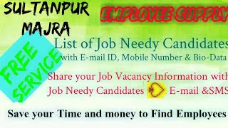SULTANPUR MAJRA      EMPLOYEE SUPPLY   ! Post your Job Vacancy ! Recruitment Advertisement ! Job Inf