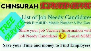 CHINSURAH     EMPLOYEE SUPPLY   ! Post your Job Vacancy ! Recruitment Advertisement ! Job Informatio