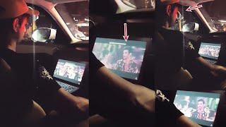 Sushant Singh Enjoys Watching His Sweet Heart Song In Laptop While On Road Trip | Kedarnath