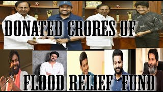 ACTORS CHIRANJEEVI AND NAGARJUNA MET WITH CM KCR, DONATED MONEY FOR HYDERABAD FLOOD EFFECTED PEOPLE.