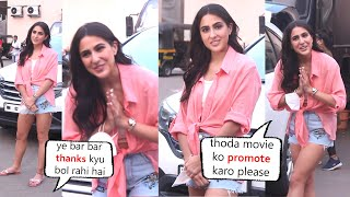 Sara Ali Khan Behaves Very Politely with Media Because Of Her New Movie Coolie No 1 Release